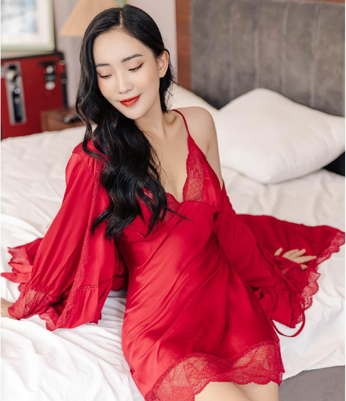 Váy ngủ áo choàng M142 Vingo