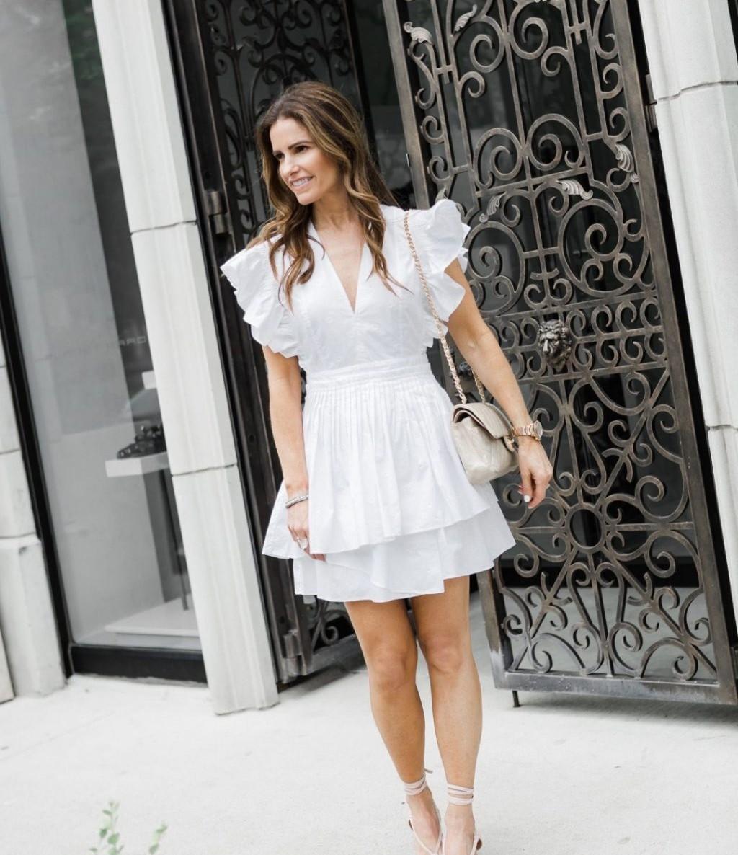 """Những chiếc váy xòe rất """"nịnh"""" dáng những nàng có phần vai rộng"""