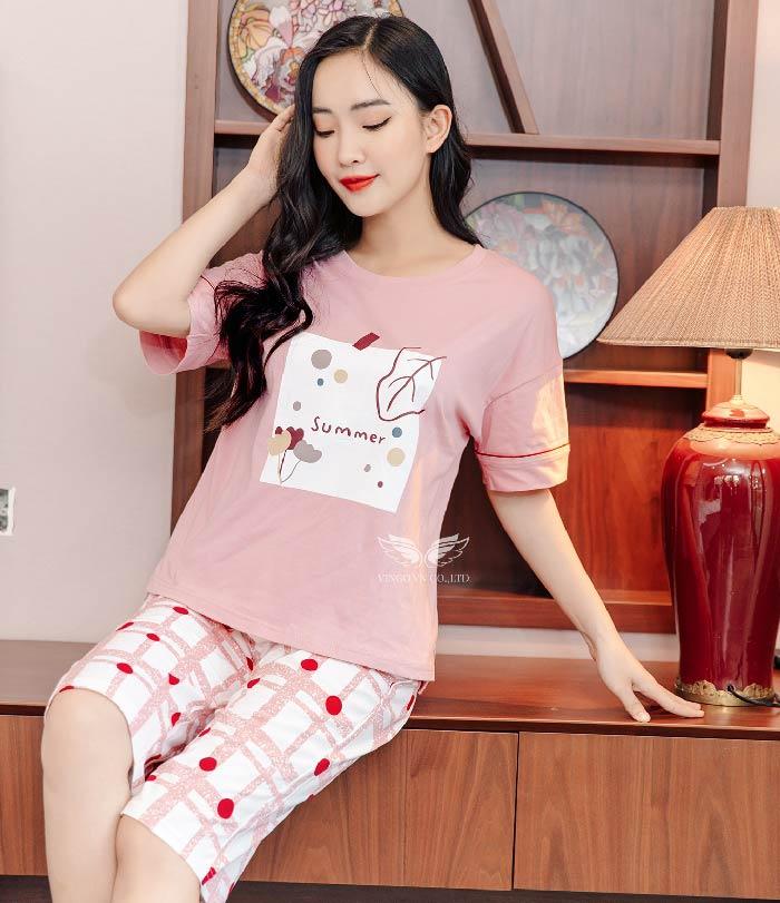 Bộ đồ mặc nhà cotton C022