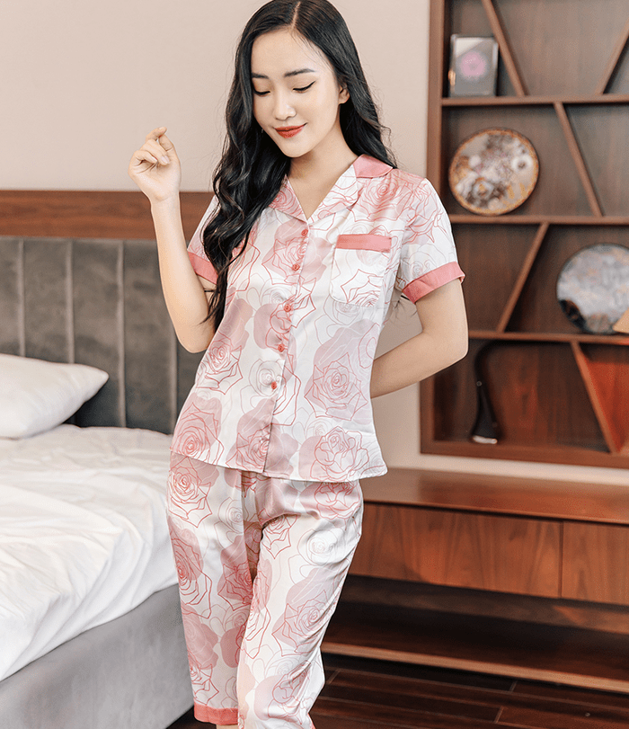 Bộ pijama lụa cao cấp h388