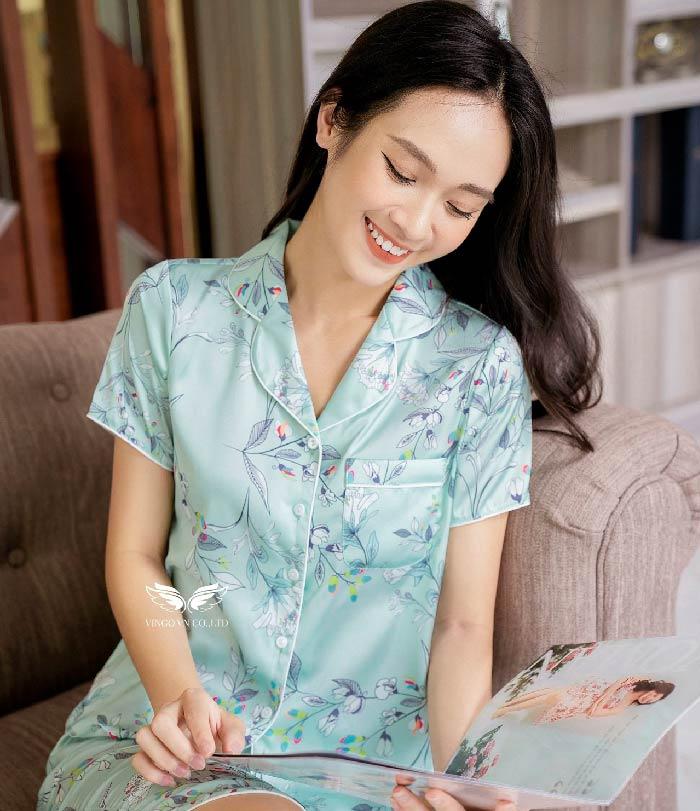 bộ pijama lụa cao cấp h397 vingo